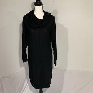 Tahari 100% merino cowl neck sweater dress size S